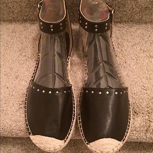 Shoes - Ladies Leather Espadrilles
